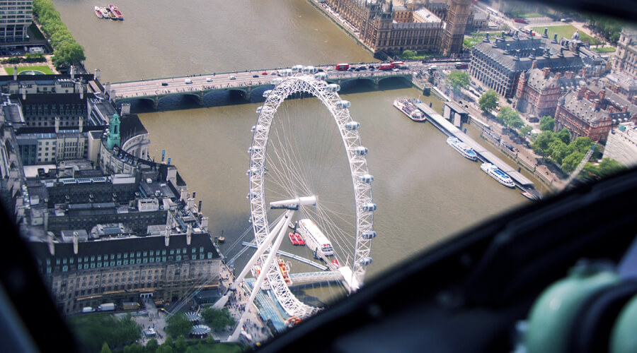 London Eye by Helicopter