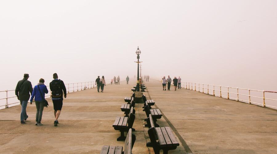 Foggy Whitby Pier