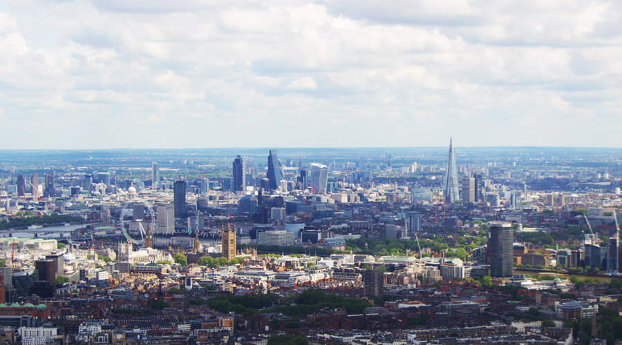 London from Helicopter