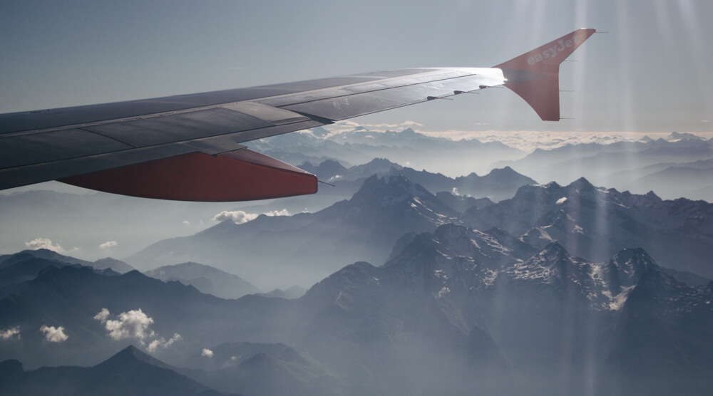 Flying to Switzerland