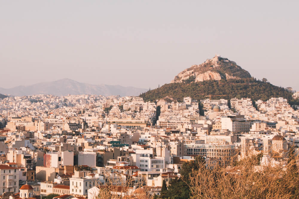 Athens golden hour