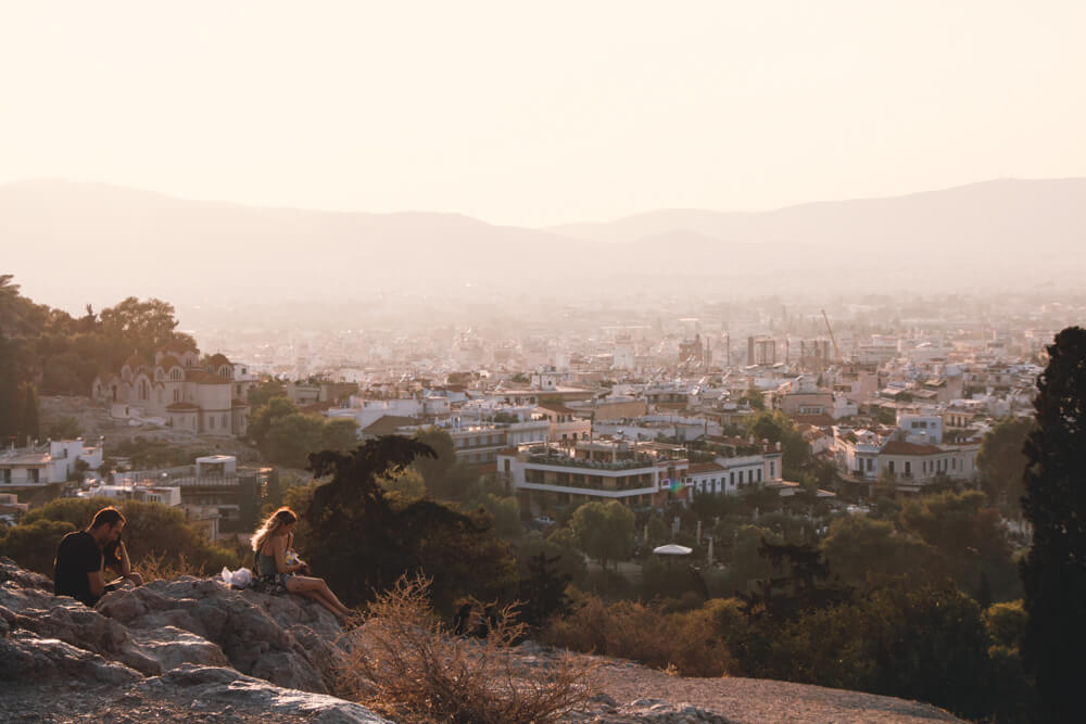 Golden hour in Athens