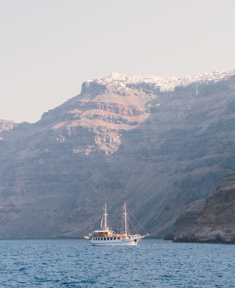 Santorini boat