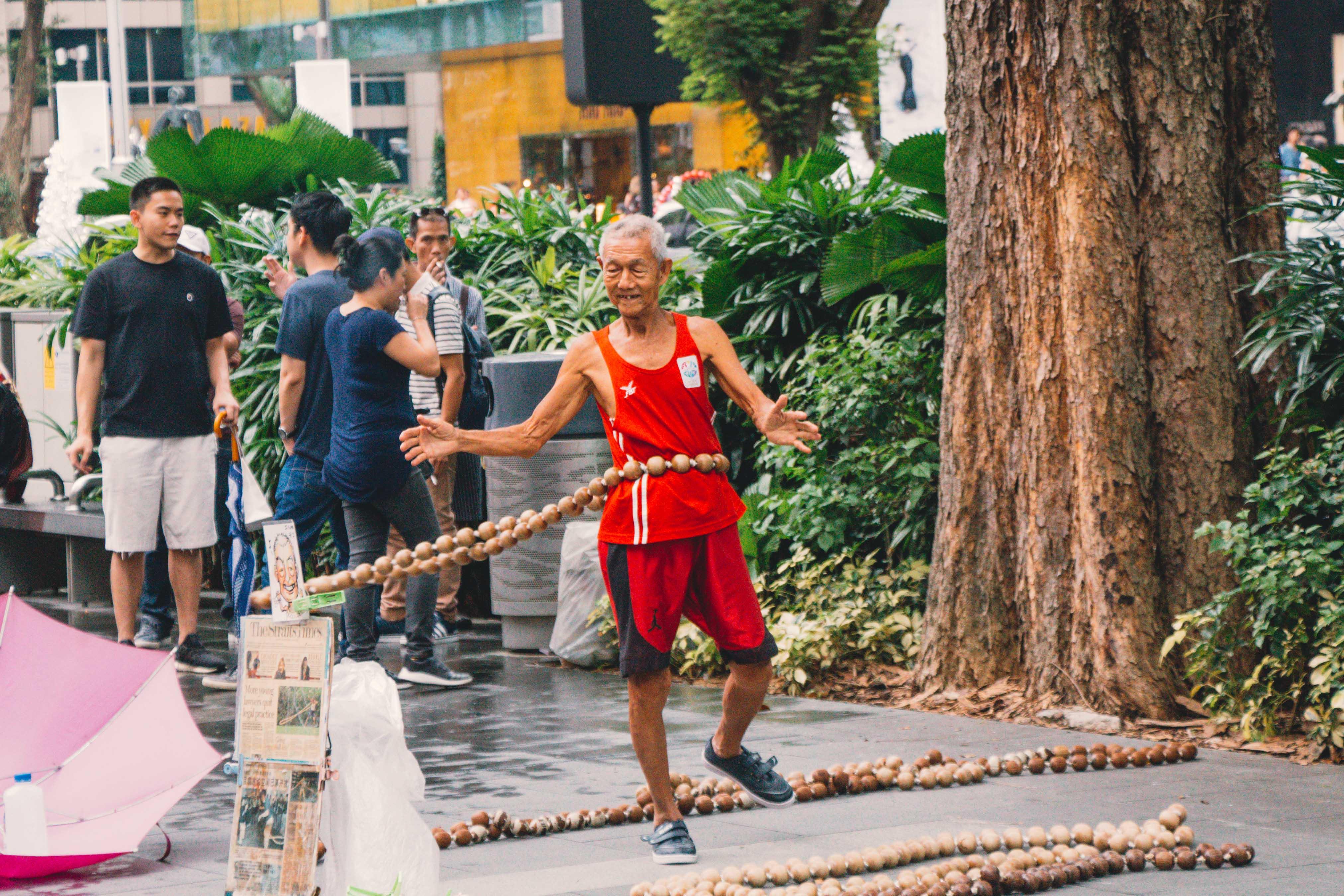 Singapore street performer