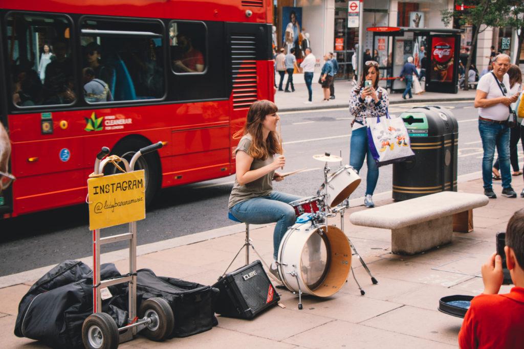 London busker